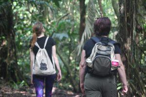Walking in Finca Luna forest