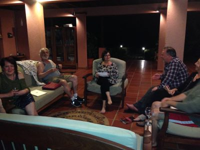 Group discussion at Centauri Arts Writing Retreat